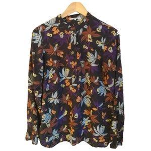 Gérard Darel Dark Floral Silk Blouse, size 6